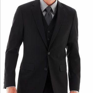 JF JFerrar Stretch Gabardine Slim Fit Suit Jacket